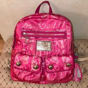Coach Poppy Authentic Backpack Purse Tote